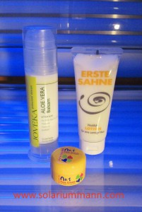 Aloe Vera Balsam 100 ml Erste Sahne Lotion 100 ml Face Cream 15 ml