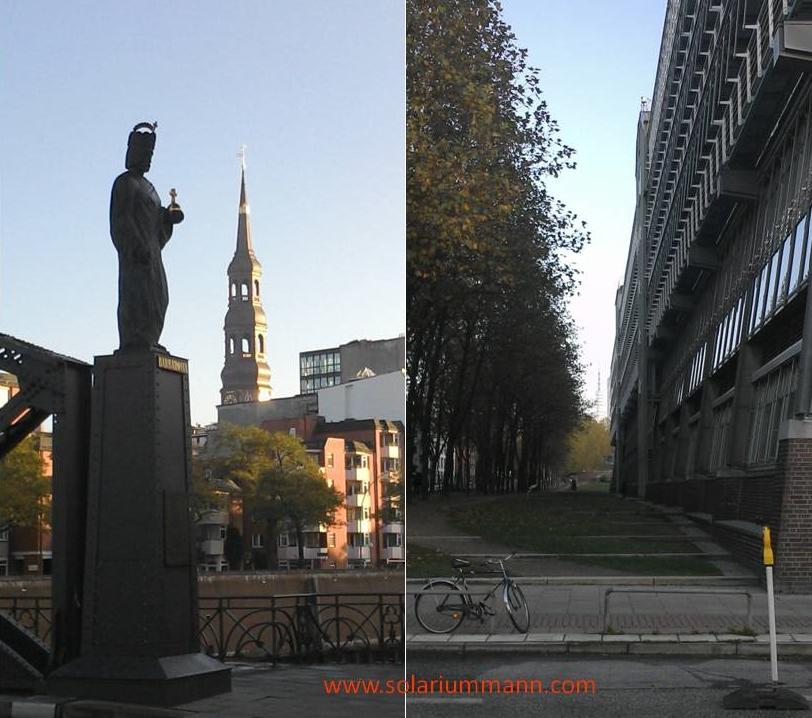 Barbarossa Skulptur auf der Brooksbrücke