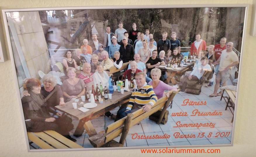 gute Atmosphäre und viel Spaß - Freunde und Mitglieder vom Ostsee Fitness Studio in Bansin.