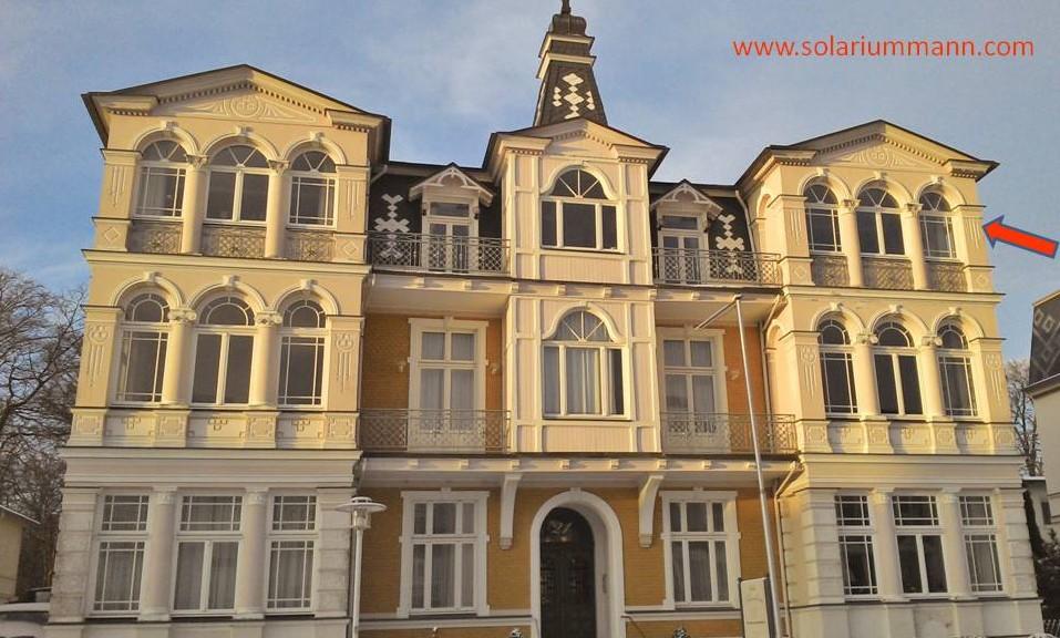 oben rechts habe ich residiert, in einem schönen stilvollen Ambiente - in der Villa Sommerfreude in Bansin