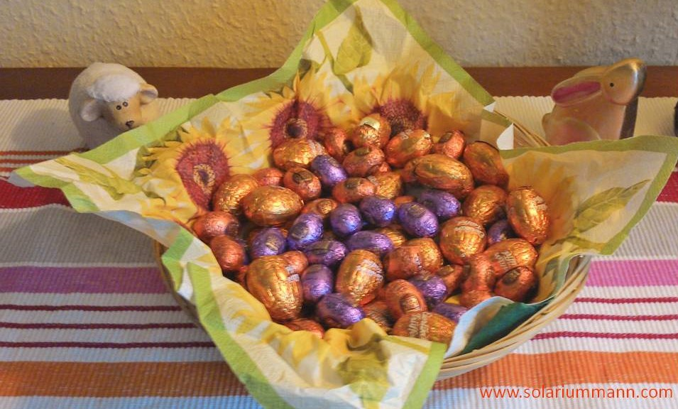Wie immer habe ich zu Ostern etwas leckeres bekommen.